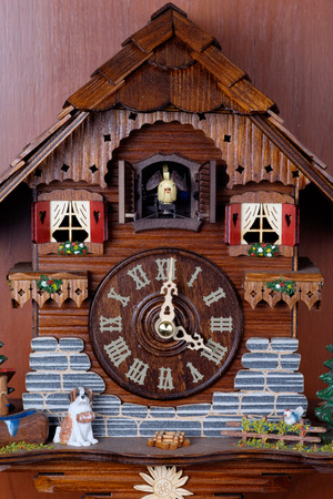 birdie: Cuckoo clock with birdie out of house made by crafted wooden