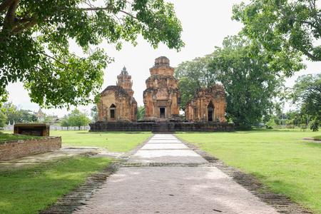 Castle rock temple in sikhoraphum, surin, thailand called Prasat Sikhoraphum