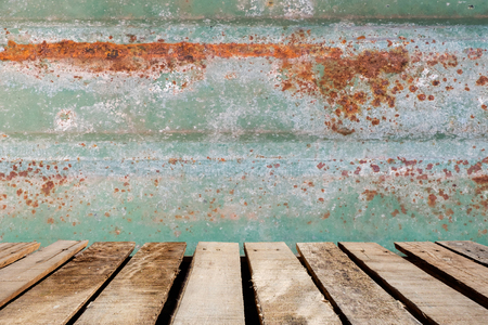wooden floor on rusted tile background Reklamní fotografie - 44950519