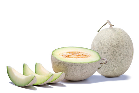 melon isolated on white background 写真素材