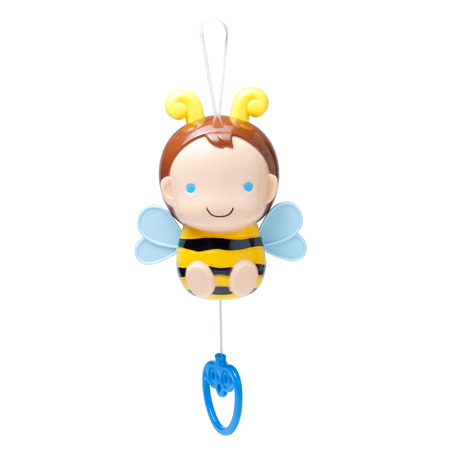 bee toy music box for kid isolated on white background Reklamní fotografie