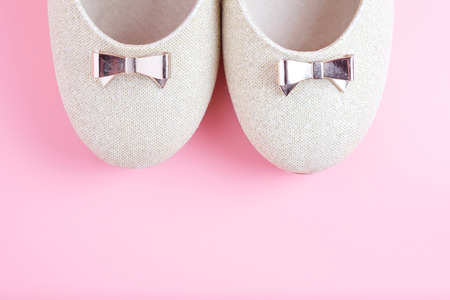 woman shoes on pink background. 写真素材