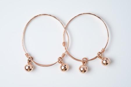 pink gold anklet for baby. Reklamní fotografie