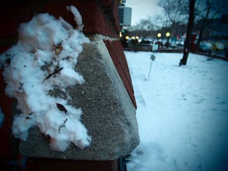 Winter snow stain