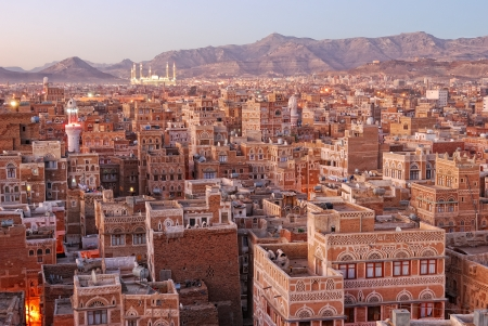 Altstadt von Sanaa, der Hauptstadt des Jemen Standard-Bild - 13855531