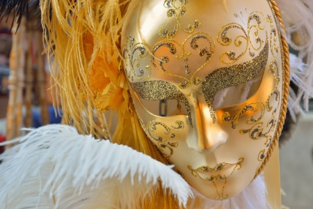 A traditional mask of the Carnival of Venice  photo