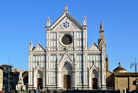 Basilica di Santa Croce (Basilique de la Sainte Croix), à Florence, Italie Banque d'images - 13887362