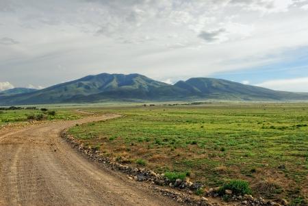 Road to hills, Tanzania Stock Photo - 13939776