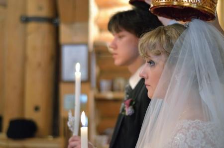 Wedding church ceremonies, bride and groom