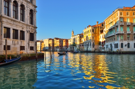 Grand Canal in Venice, Italy  Evening light