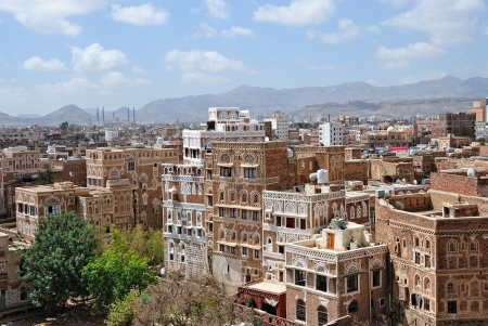 Sanaa  View on the old city from roof photo