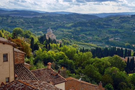 Idyllic Tuscan landscape near Montepulciano at evening time, Vall d'Orcia Italy, Europe Stock Photo - 17094925