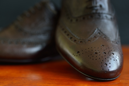 men s boot: Male shoes in fashion concept  Small depth of field