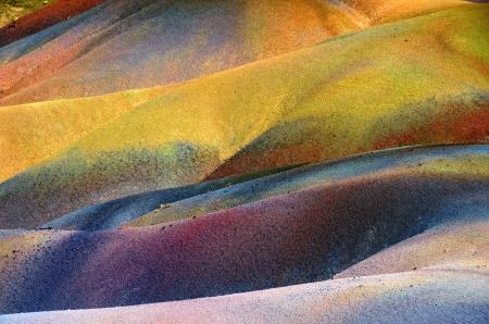 dune: Principal la vista de Isla Mauricio inusuales volc?nicas formaci?n siete tierras coloreadas en Chamarel