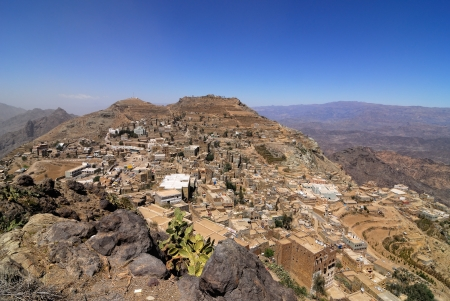 Mountain Yemen  View on Hababba village in Eastern Haraz photo