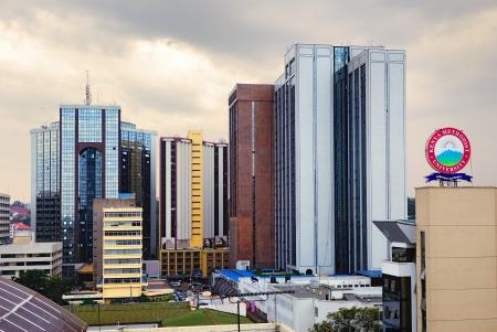 ナイロビ - 中央ビジネス地区の 8 月 24日、2010 年 8 月 24 日ナイロビでは、この地域の高層ビルのほとんどはケニアのスカイラインは、企業や企業の