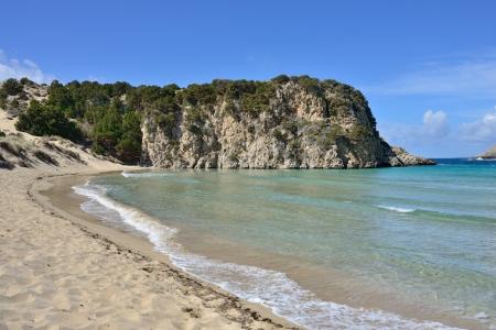 messinia: One from the best beaches in mediterranean Europe, beautiful lagoon of Voidokilia, Messenia, Greece
