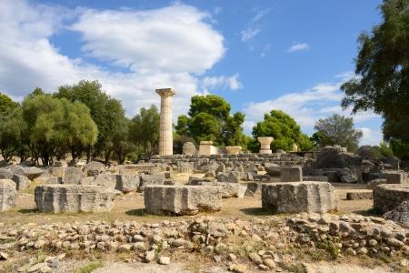 antigua grecia: Grecia Olympia, ruinas del templo de Zeus