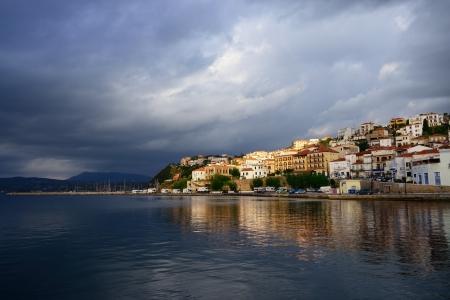 messinia: The town of Pylos after thunderstorm  Messinia, Navarino bay, Greece