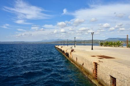 messinia: Seafront of Pylos harbor, Navarino bay, Messinia, Greece