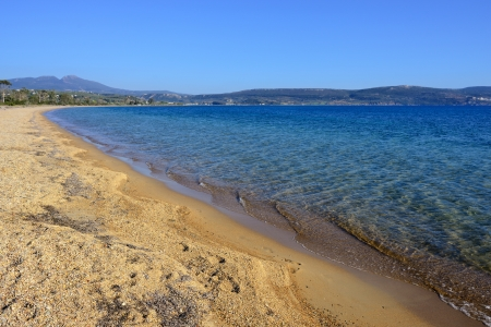 Ghialova beach  The popular beach in Messenia, Greece  Imagens