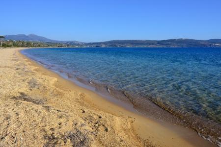 messinia: Ghialova beach  The popular beach in Messenia, Greece  Stock Photo