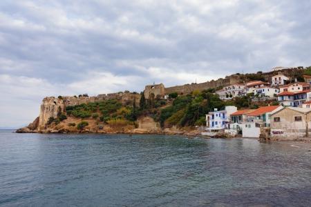 messinia: Medieval Koroni castle at evening time, Mesiniakos gulf, Messenia, Peloponnese, Greece