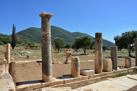 messenia:  Ancient Messini old ruins, Messenia, Peloponnese, Greece  Stock Photo