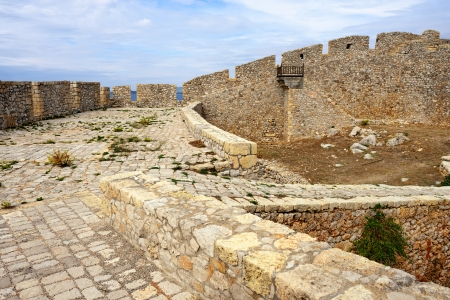 messinia: Fortress of Neokastro in Pylos, Messinia, Greece Stock Photo