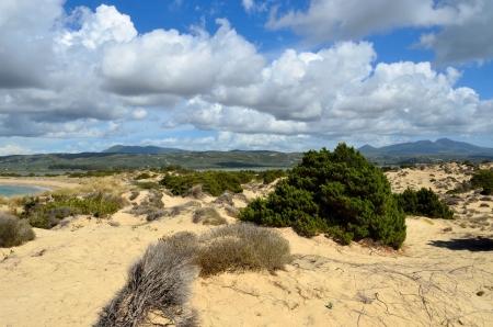 messenia: Dune of Gialova and beautiful lagoon of Voidokilia, Messenia, Greece