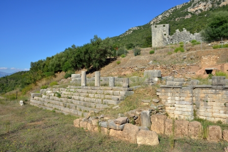 messenia: Ruins of Ancient Messini, Messenia, Peloponnese, Greece Stock Photo
