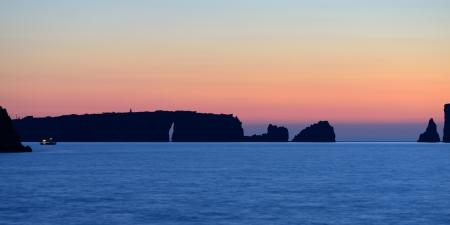 messinia: Sunset over Navarino bay, Messinia, Greece