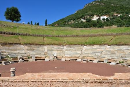 messenia: Ruins of the Theatre of Ancient Messini, Messenia, Peloponnese, Greece