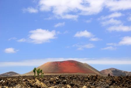 Volcanic Lanzarote landscape View on the Mountain Colorado  Spain