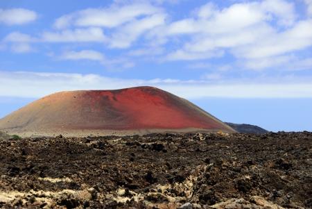 Volcanic Lanzarote landscape View on the Mountain Colorado  Spain Stock Photo - 25317345