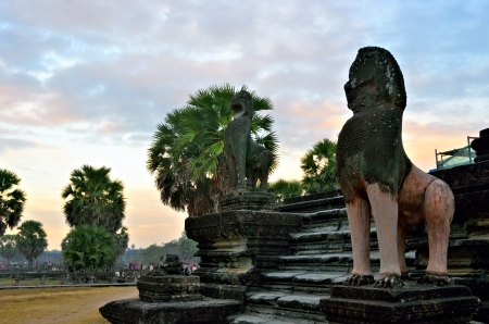 The Angkor Wat temple at sunrise in Siem Reap  Cambodia  photo