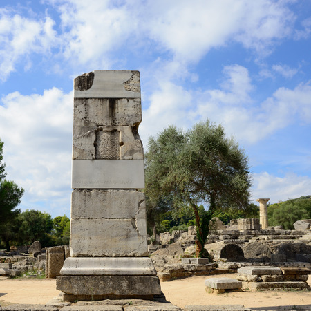 Ancient ruins shown on 5 Oct 2013 in Olympia   photo