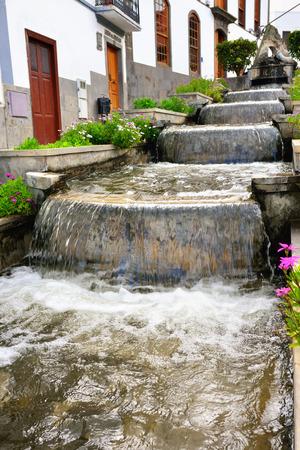 paseo: Firgas Tasteful waterfall cascade on Paseo de Gran Canaria