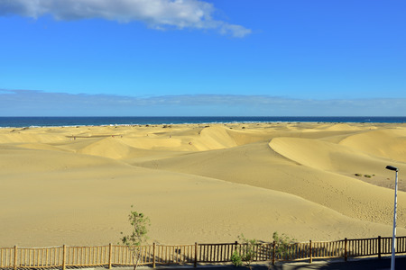 constitutes: The most famous the Natural Reserve of the Dunes of Maspalomas, which constitutes the main landmark of Gran Canaria