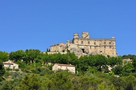 cited: Beautiful Medieval castle in Village Le Barroux , Provence, France Stock Photo