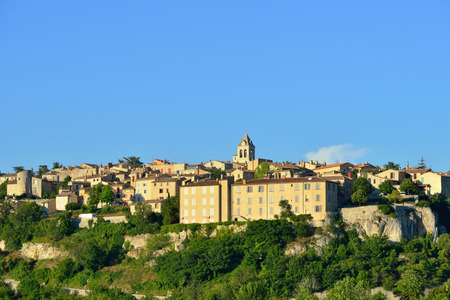 cited: Beautiful Medieval Village of Sault at evening time, Provence, France