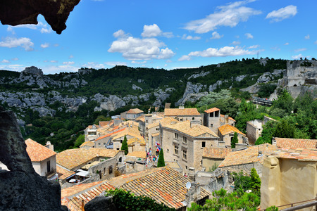 Les Baux de Provence village on the rock formation  France, Europe
