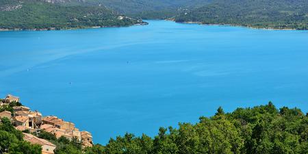 cited: Beautiful Medieval Village Sainte Croix du Verdon on the lake shore, Provence, France