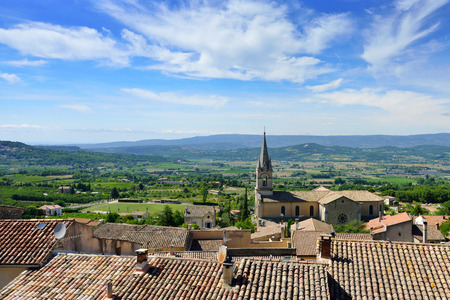 cited: Beautiful Medieval Village of Bonnieux and rural landscape in Provence, France