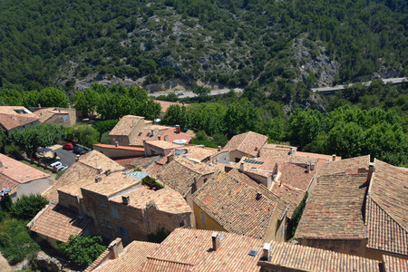 cited: View from above on the Medieval Village of Le Barroux, Provence, France