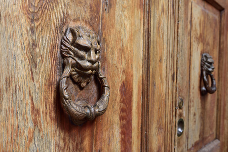 An ancient door knob from Verona, Italy photo