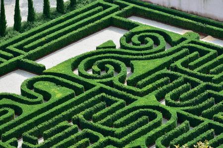 베니스의 Borges Labyrinth, San Giorgio Maggiore 섬, Giorgio Cini Foundation, 이탈리아, 유럽 스톡 콘텐츠