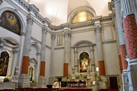 sestiere: Interiors of beautiful church Venice - Church of San Vidal,. Sestiere of San Marco