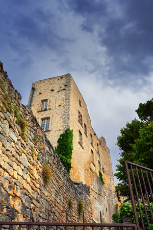 sadism: Ruined castle of the Marquis de Sade in village Lacoste, Provence, France Editorial