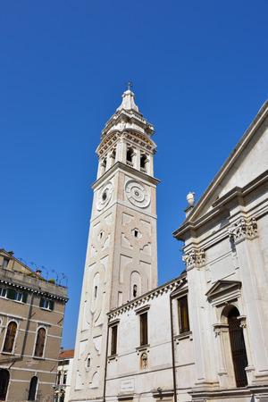 formosa: Bell tower of Santa Maria Formosa church in Venice, Italy Stock Photo